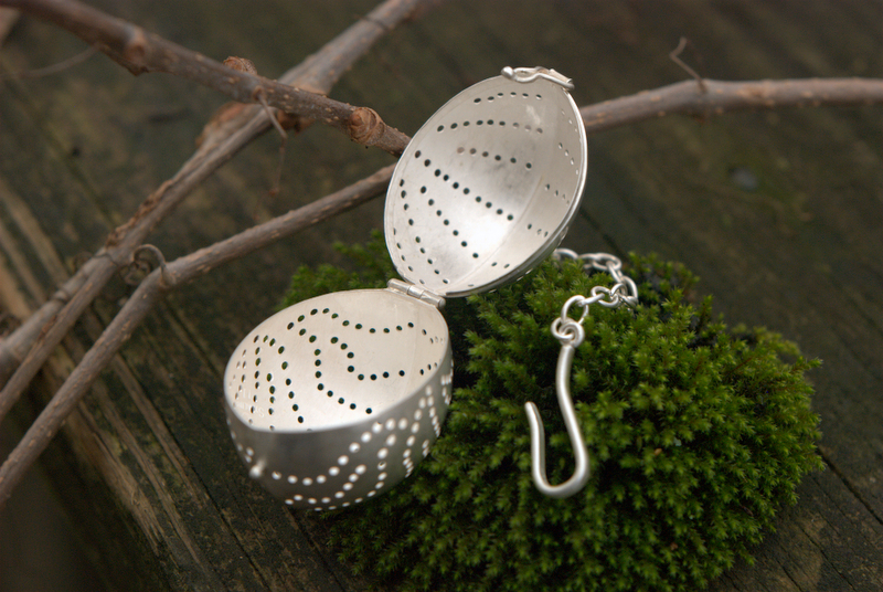 Tea Strainer in Sterling Silver